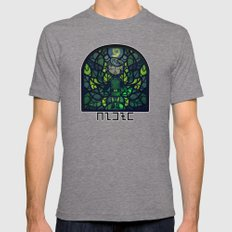 Sage of Forest Mens Fitted Tee Tri-Grey SMALL
