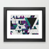 Triangled! Framed Art Print