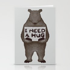 I Need A Hug Stationery Cards