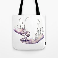 I hope one day you find someone who makes flowers grow in even the saddest parts of you Tote Bag