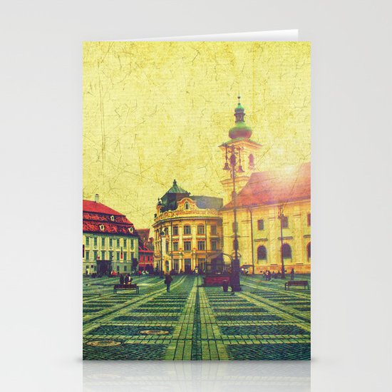Postcards From A Better Century: Sibiu, Romania Stationery Card