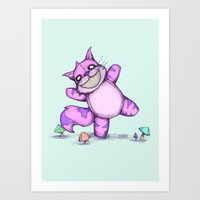 Cheshire Cat Plushie Art Print
