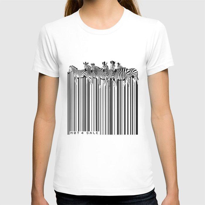 zebra barcode t shirt by sassan filsoof society6