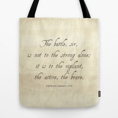 The Battle by Patrick Henry Tote Bag