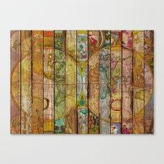 Around the World in Thirteen Maps Canvas Print