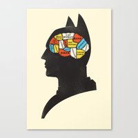 Bat Phrenology Canvas Print