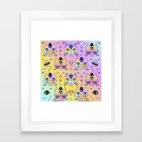 Galactic Cats  Framed Art Print