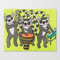 Dancing Lemurs Canvas Print