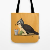 Little Black Cormorant Tote Bag