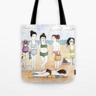 Beach Babes Tote Bag