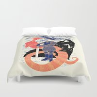 The Knight, Death, & the Devil Duvet Cover