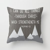 I CAN // Philippians 4:1… Throw Pillow