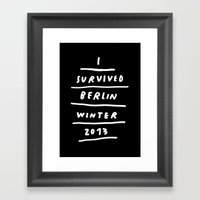 BERLIN 2013 Framed Art Print