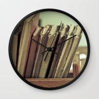 Retro Books Wall Clock