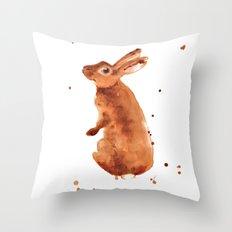 bunny rabbit, beatrix potter lover, rabbit, bunny, bunny lover Throw Pillow