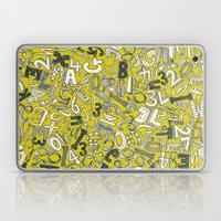 A1B2C3 chartreuse Laptop & iPad Skin