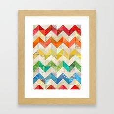 Chevron Rainbow Quilt Framed Art Print