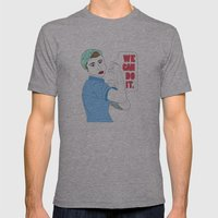 Rosie the Riveter Mens Fitted Tee Athletic Grey SMALL