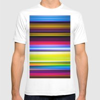 Light Beams Mens Fitted Tee White SMALL