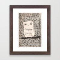 Jeffery The Owl Framed Art Print