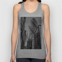 London Gherkin, London Unisex Tank Top