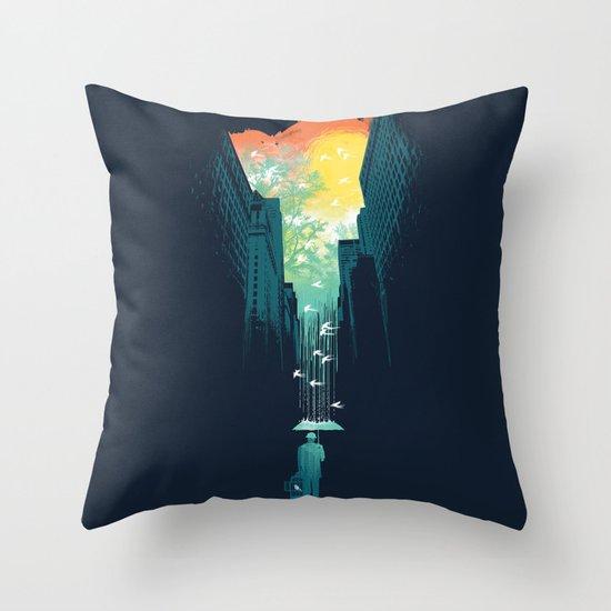 I Want My Blue Sky Throw Pillow