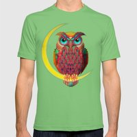 OWL Mens Fitted Tee Grass SMALL