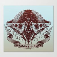Demons and Shit Canvas Print
