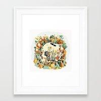 Skull & Fynbos Framed Art Print