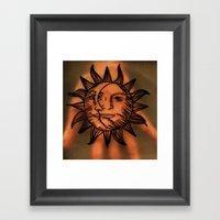 Sun Hand. Framed Art Print