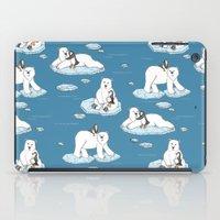 Polar Bear Loves Penguin iPad Case