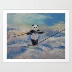 Panda Tightrope Art Print