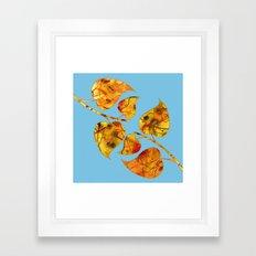 blue automn Framed Art Print