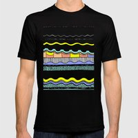 NATIVE WAVES Mens Fitted Tee Black SMALL