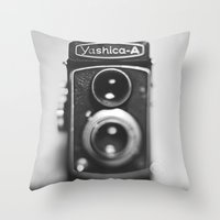 Yashica-A Black And Whit… Throw Pillow