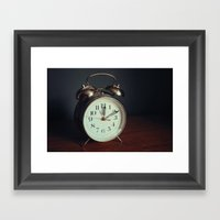 Ticking Clock Framed Art Print