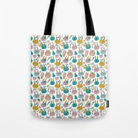 Pattern Project #14 / Bunny Faces Tote Bag