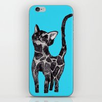 Giraffe Cat 2. iPhone & iPod Skin
