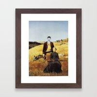 The Unknown Rider Mamas Boy Framed Art Print