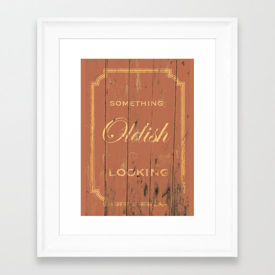 Something Oldish Looking Framed Art Print