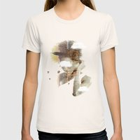 New York Dreaming Womens Fitted Tee Natural SMALL