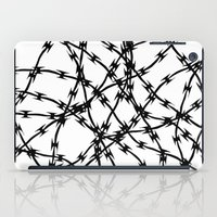 Trapped Black on White iPad Case