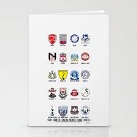 Alternate Football Teams Stationery Cards