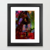 Just around the corner  Framed Art Print