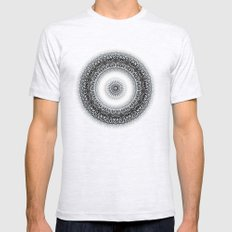 WINTER LEAVES MANDALA Mens Fitted Tee Ash Grey SMALL