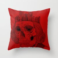 untouchable city Throw Pillow