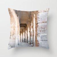 Roman Amphitheatre Arche… Throw Pillow