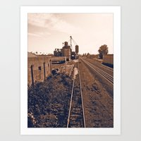 Art Print featuring Historic railway by Vorona Photography