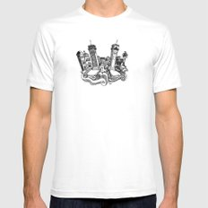 Venice SMALL White Mens Fitted Tee