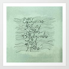 Breadcrumbs Art Print